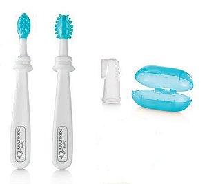 Kit higiene oral 3 estágios - AZUL
