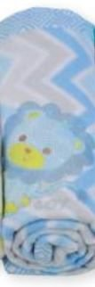 Cobertor soft para bebê  - Chevron Azul