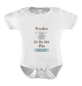 Body O melhor presente do dia dos pais sou eu - AZUL