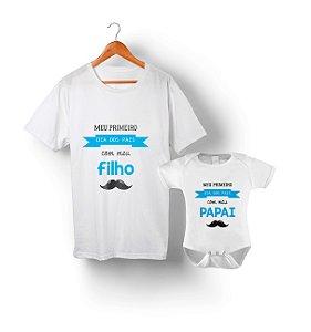 Kit Tal Pai Tal Filho - Meu Primeiro Dia dos Pais com meu filho (bigode)