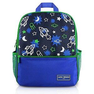 Mochila Escolar - Espaço -  SAPEKA - Azul