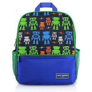 Mochila Escolar - Robô  SAPEKA - Azul