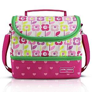 Lancheira Térmica c/ 2 Compartimentos - Flor Pink SAPEKA - Pink