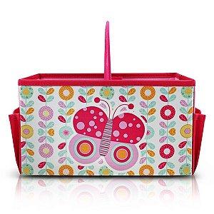 Caixa Organizadora Infantil c/ Alça PEQUENINOS - Rosa