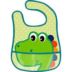 Babador Impermeável com bolso - Dino