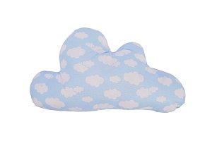 Almofada Nuvem Estampada - Azul
