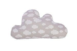 Almofada Nuvem Estampada - CINZA