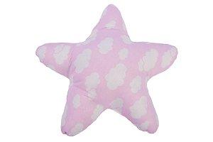 Almofada Estrela Estampada - ROSA