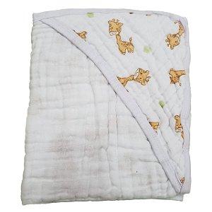 Toalha de Banho com Capuz Swaddle  - Girafa