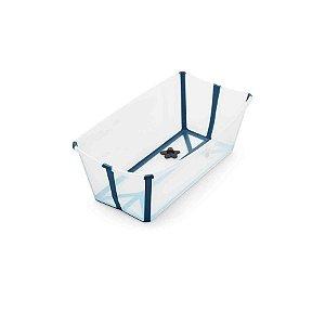 Banheira Flexível Transparente Azul - Stokke