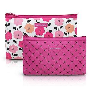 Kit de Necessaire de 2 Peças - PINK LOVER - Pink