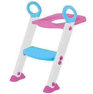 Escadinha com redutor de assento - Rosa