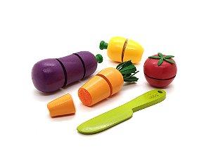 Caixa de Legumes com Corte - 6 peças