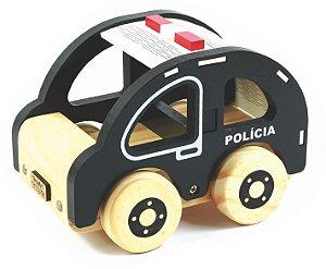 Carrinho de Madeira - Coleção Carrinhos - Polícia