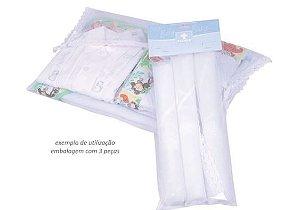 Kit com 3 saquinhos de maternidade em filó Texnew
