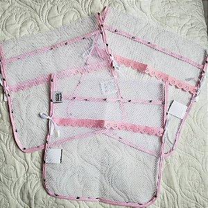 Kit com 3 saquinhos de maternidade - Reininho Encantado ROSA