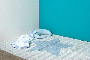 Tapete Infantil Lavável na Máquina - 1,60 x 1,20 - Estrela Azul