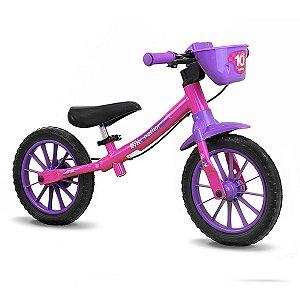 Bicicleta de Equilíbrio Balance - Rosa e Lilás