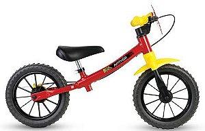 Bicicleta de Equilíbrio Balance - Vermelha e Amarela