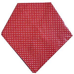Babador Bandana Dupla Face - Vermelha com Bolinhas Brancas