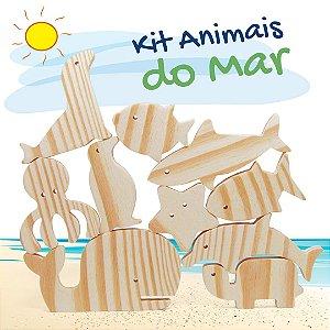 Kit Animais do Mar em Madeira - 10 peças