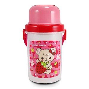 Squeeze 450ml Infantil - Urso FILHOTINHOS - Pink