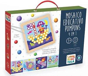 Mosaico Educativo Pompons 4 em 1