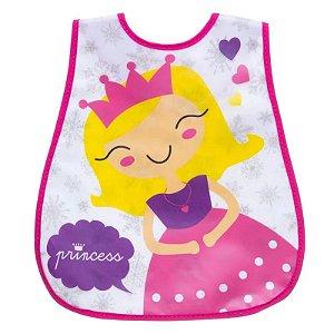 Babador Impermeável Atoalhado Princesa