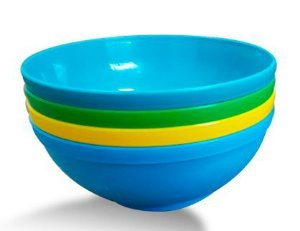 Kit de 4 tigelas bowls 300ml para alimentação do bebê - Azul