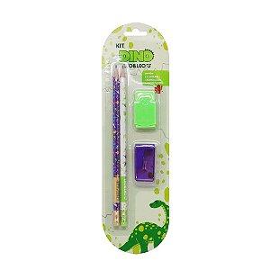 Kit Escolar Infantil - 4 peças - Dino