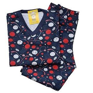 Pijama Infantil Flanelado - 1 ao 3 - Balls