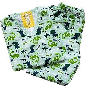 Pijama Infantil Flanelado - 1 ao 3 - Dinos