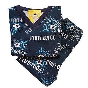 Pijama Infantil Flanelado - 1 ao 3 - Football