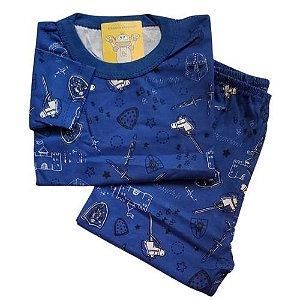 Pijama Infantil Malha 100% Algodão - 1 ao 3 - Cavaleiro