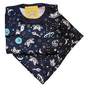 Pijama Infantil Malha 100% Algodão - 1 ao 3 - Espacial