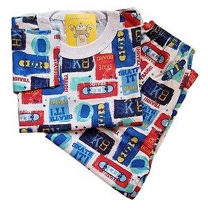 Pijama Infantil Malha 100% Algodão - 4 ao 8 - Skate
