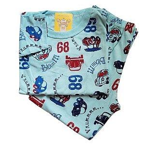 Pijama Infantil Malha 100% Algodão - 4 ao 8 - Fusca