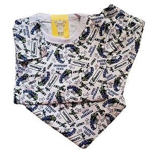 Pijama Infantil Malha 100% Algodão - 4 ao 8 - Tênis
