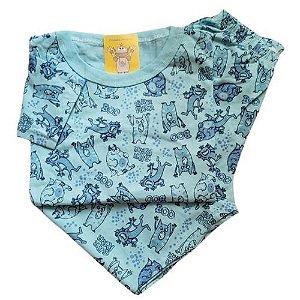 Pijama Infantil Malha 100% Algodão - 4 ao 8 - Monstrinhos