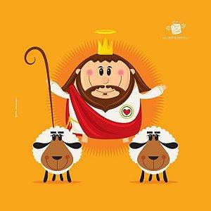 Capa de Almofada Bom Pastor - Coisa de Santo
