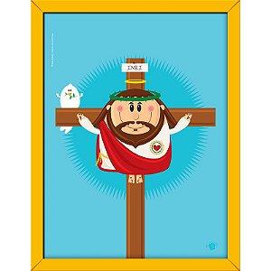 Quadro Jesus Crucificado 30x40 - Coisa de Santo