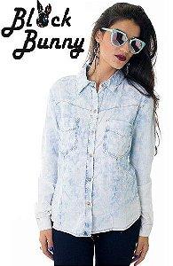 Camisa Jeans Feminina