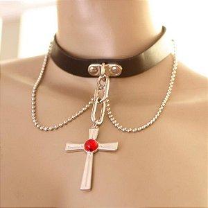 colar moka san/ vampire rosarie