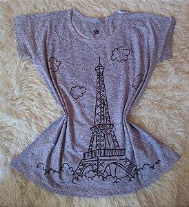 T-Shirt Feminina Para Revenda Paris Desenho