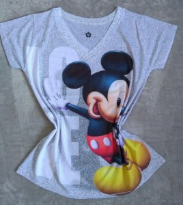 T-Shirt Feminina no Atacado Mickey Grande