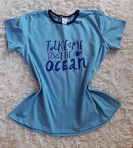 Tee Feminina no Atacado Take Me Ocean