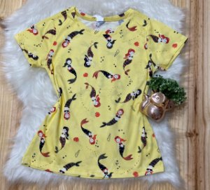 T-shirt Feminina Para Revenda Sereias