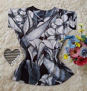 T-Shirt Feminina no Atacado Floral