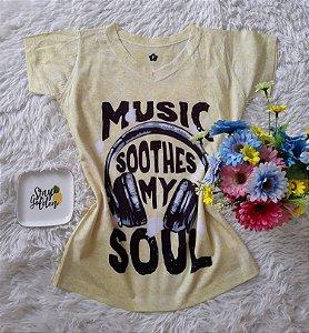 T-Shirt Feminina no Atacado Music