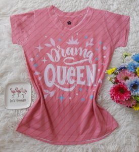 T-Shirt Feminina no Atacado Drama Queen